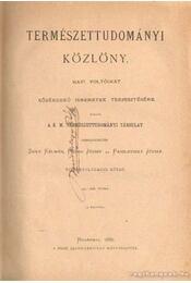 Természettudományi közlöny XVIII. kötet - Fodor József, Paszlavszky József, Szily Kálmán - Régikönyvek
