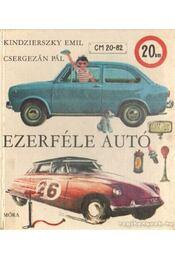 Ezerféle autó - Kindzierszky Emil - Régikönyvek