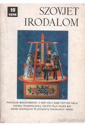 Szovjet irodalom 1976/10 - Király István - Régikönyvek