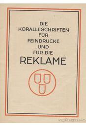 Koralle Schriften-familie - Régikönyvek