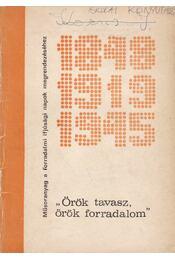 Örök tavasz, örök forradalom - Kővaragó Sarolta - Régikönyvek