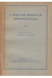 A magyar irodalom bibliográfiája 1950 - Kozocsa Sándor - Régikönyvek