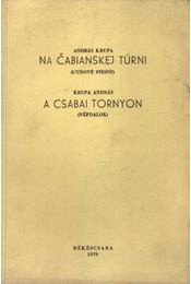 Na Cabianskej túrni - A csabai tornyon (aláírt) - Krupa András - Régikönyvek