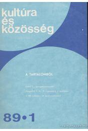 Kultúra és Közösség 1989 1-6. - Régikönyvek