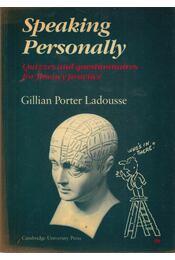 Speaking Personally - LADOUSSE, GILLIAN PORTER - Régikönyvek