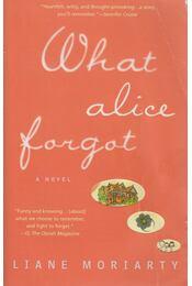 What Alice Forgot - Liane Moriarty - Régikönyvek