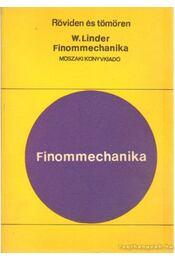 Finommechanika - Linder, Werner - Régikönyvek