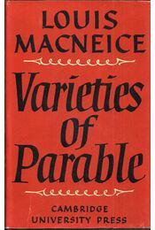 Varieties of Parable - Louis MacNeice - Régikönyvek