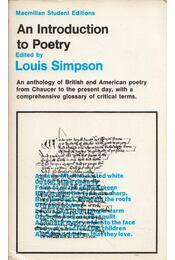 An Introduction to Poetry - Louis Simpson - Régikönyvek