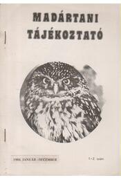 Madártani tájékoztató 1988. január-december 1-2. szám - Régikönyvek