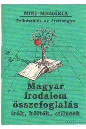 Magyar irodalom összefoglalás - Régikönyvek