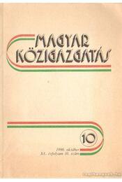 Magyar közigazgatás 1990. október 10. szám - Régikönyvek