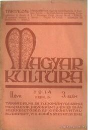 Magyar kultúra 1914. 3. szám - Régikönyvek