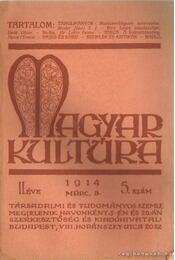Magyar kultúra 1914. 5. szám - Régikönyvek
