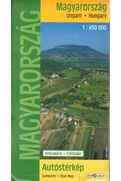 Magyarország autóstérkép 1:450 000 - Régikönyvek