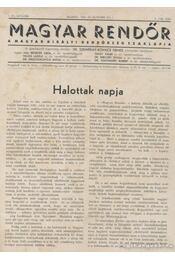 Magyar Rendőr 1934. 2-5. szám 1935. 1-24. szám - Régikönyvek