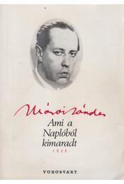 Ami a naplóból kimaradt 1948 - Márai Sándor - Régikönyvek