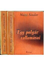 Egy polgár vallomásai I-II. kötet - Márai Sándor - Régikönyvek