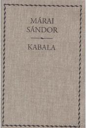 Kabala - Márai Sándor - Régikönyvek