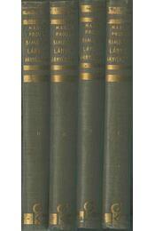 Az eltűnt idő nyomában - Bimbózó lányok árnyékában I-IV. kötet - Marcel Proust - Régikönyvek