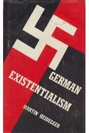 German Existentialism - Martin Heidegger - Régikönyvek