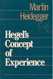 Hegel's Concept of Experience - Martin Heidegger - Régikönyvek