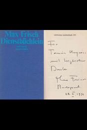 Dienstbüchlein (dedikált) - Max Frisch - Régikönyvek
