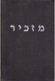 Mázkir - A könnyes emlékezés könyve - Jólesz Károly - Régikönyvek