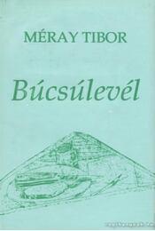 Búcsúlevél - Méray Tibor - Régikönyvek
