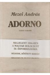 Adorno (dedikált) - Mezei András - Régikönyvek