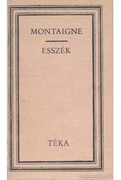 Esszék - Montaigne - Régikönyvek
