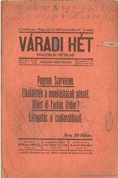 Váradi Hét 1917. november 2. 4. szám - Nagy Mihály dr. - Régikönyvek