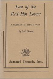Last of the Red Hot Lovers - Neil Simon - Régikönyvek