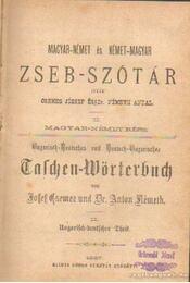 Magyar-német és német-magyar zseb-szótár - Németh Antal, Csemez József - Régikönyvek