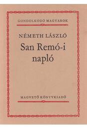 San Remó-i napló - Németh László - Régikönyvek