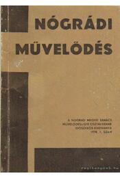 Nógrádi művelődés 1978. 1. szám - Régikönyvek