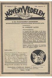 Növényvédelem 1939. 8. szám - Régikönyvek