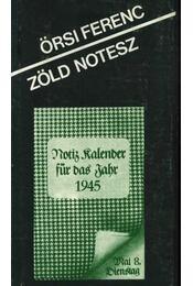 Zöld Notesz - Örsi Ferenc - Régikönyvek