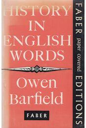 History in English Words - Owen Barfield - Régikönyvek