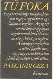Tű foka - versek - Páskándi Géza - Régikönyvek