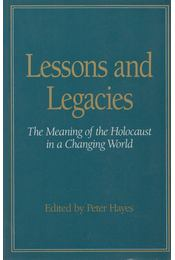 Lessons And Legacies - Peter Hayes - Régikönyvek