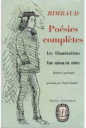 Poésies completes - Rimbaud, Arthur - Régikönyvek
