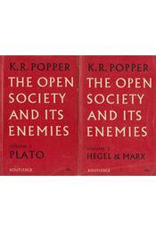 The Open Society and Its Enemies Volume 1-2. - Popper, Karl R. - Régikönyvek