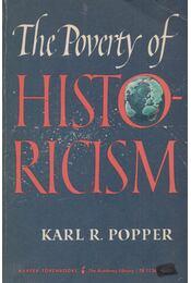 The Poverty of Historicism - POPPER, KARL - Régikönyvek