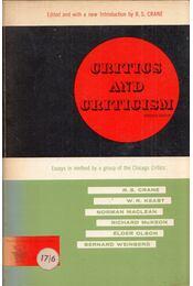 Critics and Criticism: Essays in Method by R. S. Crane, W. R. Keast, Richard McKeon, Norman Maclean, Elder Olson and Bernard Weinberg - R. S. Crane - Régikönyvek
