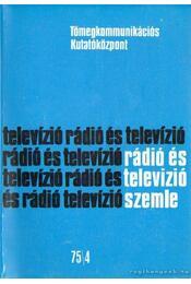Rádió és televizió szemle 75/4 - Régikönyvek