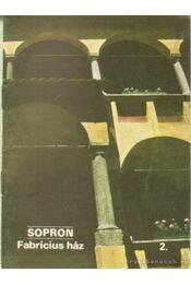 Sopron - Fabricius ház 2. - Rappai Zsuzsa - Régikönyvek