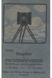 Ratgeber im Photographieren - David, Ludwig - Régikönyvek