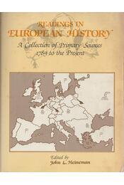 Readings in European History - Régikönyvek