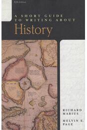 A Short Guide to Writing About History - Richard Marius, Melvin E. Page - Régikönyvek